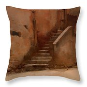 Street In Italy Throw Pillow