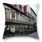 Street In Quebec Throw Pillow