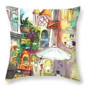 Street In Saint Martin Throw Pillow