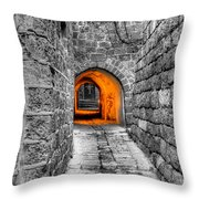 Street In Stone Throw Pillow