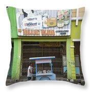 Street In Surabaya Indonesia Throw Pillow