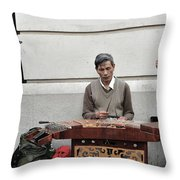 Street Jams Chinatown New York City Throw Pillow