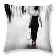 Street Lady Throw Pillow