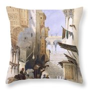 Street Leading To El Azhar, Grand Throw Pillow