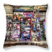 Street Life Throw Pillow