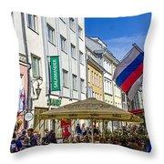 Street Life - Tallin Estonia  Throw Pillow