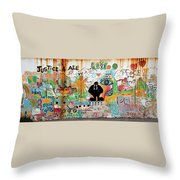 Street Mural At Liguanea Throw Pillow