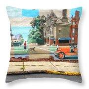 Street Mural Throw Pillow