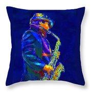 Street Music Throw Pillow