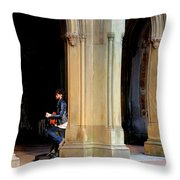 Street Musician 4 Throw Pillow