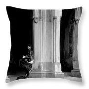 Street Musician 4b Throw Pillow