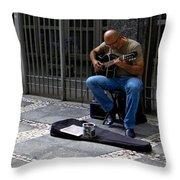 Street Musician - Sao Paulo Throw Pillow
