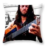 Street Musician Series #1 Throw Pillow