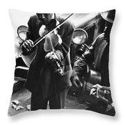 Street Musicians, 1935 Throw Pillow