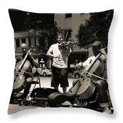 Street Musicians 2 Throw Pillow