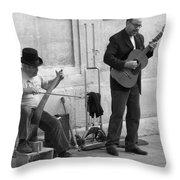 Street Musicians In Avignon Throw Pillow