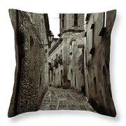 Street Of Erice Throw Pillow