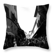 Street Of Florence Throw Pillow