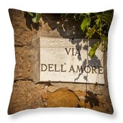 Street Of Love Throw Pillow