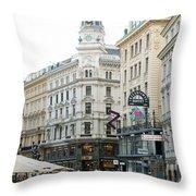 Street Of Vienna Throw Pillow