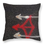 Street Painting Number 3 Throw Pillow