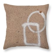 Street Painting With Leaf Throw Pillow