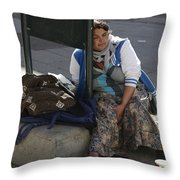 Street People - A Touch Of Humanity 10 Throw Pillow