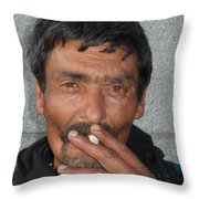 Street People - A Touch Of Humanity 17 Throw Pillow