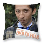 Street People - A Touch Of Humanity 11 Throw Pillow