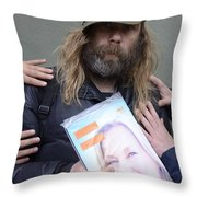 Street People - A Touch Of Humanity 12 Throw Pillow
