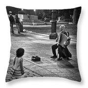 Street Performance Throw Pillow