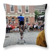 Street Performer Faneuil Hall Market Boston Throw Pillow