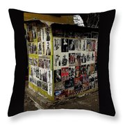 Street Photographer's Shed Icons Us/mexico Border Nogales Sonora  Mexico 2003 Throw Pillow