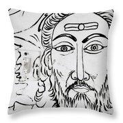 A Man In Cochin Throw Pillow