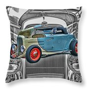 Street Rod In Grill Throw Pillow
