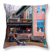 Street Scene Throw Pillow