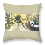 Street Scene Impression Throw Pillow