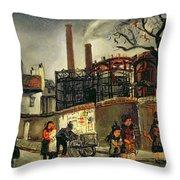 Street Scene In Paris, 1926 Throw Pillow
