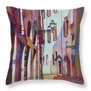Street Scene Italy Throw Pillow