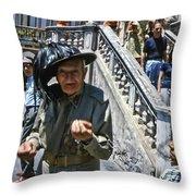 Street Scenes Interesting People Throw Pillow
