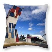 Street Sculpture In Front Of The Adelaide Festival Center Throw Pillow