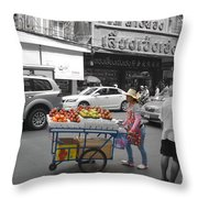 Street Seller Throw Pillow