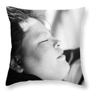 Street Sleep Throw Pillow