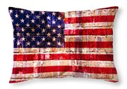 Street Star Spangled Banner Throw Pillow