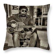 Street Tunes Throw Pillow