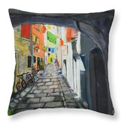 Street View 2 From Pula Throw Pillow