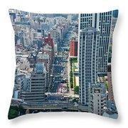 Street View Tokyo Throw Pillow