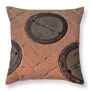 Street Water Covers Throw Pillow
