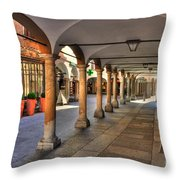 Street With Arches And Columns Throw Pillow