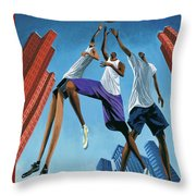 Streetball Throw Pillow